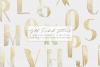 Gold watercolor letters, hand painted glitter alphabet example image 1