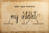 Sherlock calligraphy script font example image 2