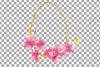Easter golden watercolor floral frames, floral frames example image 2