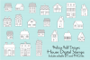 Houses Digital Stamps Clipart example image 1