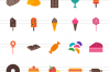 30 Sweets & Confectionery Flat Multicolor Icons example image 2