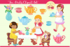Tea Party Clipart Set example image 1