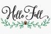 Hello Fall SVG, Cut File, Fall Shirt Design, Thanksgiving example image 2