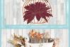 Pumpkin with Leaves Berries Mum SVG example image 4