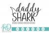 Shark Family - Shark - Daddy Shark SVG example image 1
