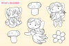Cute Fairies Digital Stamps example image 2