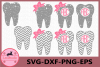 Tooth Grunge SVG, Monogram Tooth SVG, Distressed Svg example image 1