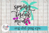 Spring Break Mode Beach Vacation SVG Cutting Files example image 1
