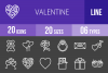20 Valentine Line Inverted Icons example image 1