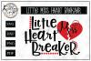 Little Miss Heart Breaker SVG Cut File  example image 1