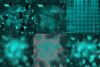 Grunge Turquoise Digital Paper example image 3