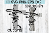 FIGHTER - CROSS -Cutting & Sub in one ! SVG PNG DXF EPS example image 1