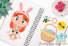 Easter Egg Hunt Clipart, Instant Download Vector Art example image 3