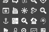 50 SEO Glyph Inverted Icons example image 2
