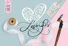 Lovingly Symbol Flourish Hearts Font example image 1