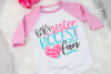Volleyball Sister - Baby Sister Biggest Fan SVG example image 2