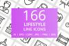 166 Lifestyle Line Icons example image 1
