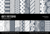Gray/Grey Digital Papers example image 1