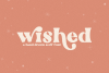 Wished - A Hand-Drawn Serif Font example image 1
