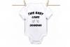 This baby loves grandma, onesie design svg, onesie cut file example image 1