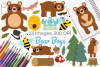 Bear Boys Clipart, Instant Download Vector Art example image 1