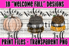 18 PNG Welcome Fall Bundle - Print File example image 6