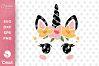 Unicorn Face SVG DXF Cut File, Unicorn Eyelashes SVG example image 1
