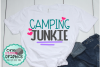 Camping junkie svg,camping svg,camping svgs,camping junkie example image 1