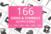 166 Signs & Symbols Glyph Icons example image 1
