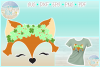 Fox Face With Clovers SVG Dxf Eps Png PDF example image 1