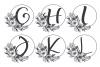 Monogram Alphabet with Floral Design. Flower Monogram example image 2