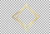 Elegant wedding geometric golden frames, lineal frames png example image 16