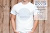 Mens Shirt Mockup Wood Fence 3.2 Aspect Ratio example image 1
