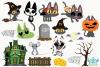 Halloween Cats 2 Clipart, Instant Download Vector Art example image 2