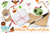 Halloween Pumpkins and Ghosts Clipart, Instant Download example image 4