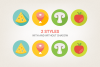 Round Food Icons example image 4