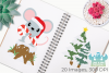 Christmas Mice Clipart, Instant Download Vector Art example image 3