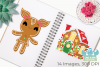 Christmas Gingerbread Clipart, Instant Download Vector Art example image 3