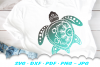 Mandala Sea Turtle SVG DXF Cut Files Bundle example image 5
