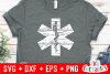 Distressed Star of Life EMS | SVG Cut File example image 2