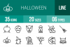 35 Halloween Line Icons example image 1