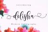 Delisha Script example image 1