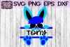 Easter Svg, Easter Bunny Svg, Easter Split Monogram Svg, example image 1