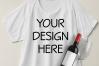 Boxy Crop Top T-shirt Mockups - 4 example image 5
