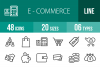 48 Ecommerce Line Icons example image 1