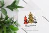 Buffalo Plaid Leopard Print Christmas Trees Sublimation example image 4