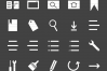 50 Interface Glyph Inverted Icons example image 2