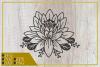 Lotus Flower svg, single flower, instant download, cut file. example image 1