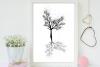 Black Tree Ink Art, A1, SVG example image 5