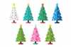 Colorful Christmas Tree Party Clip Art Set example image 5